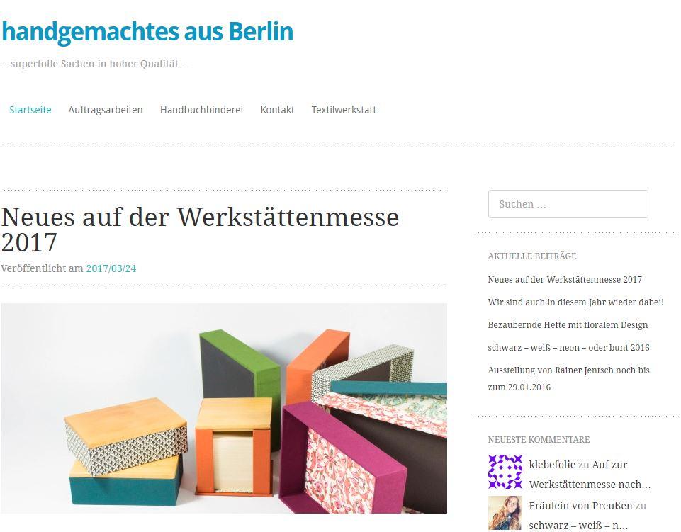 Handgemachtes aus Berlin Blog